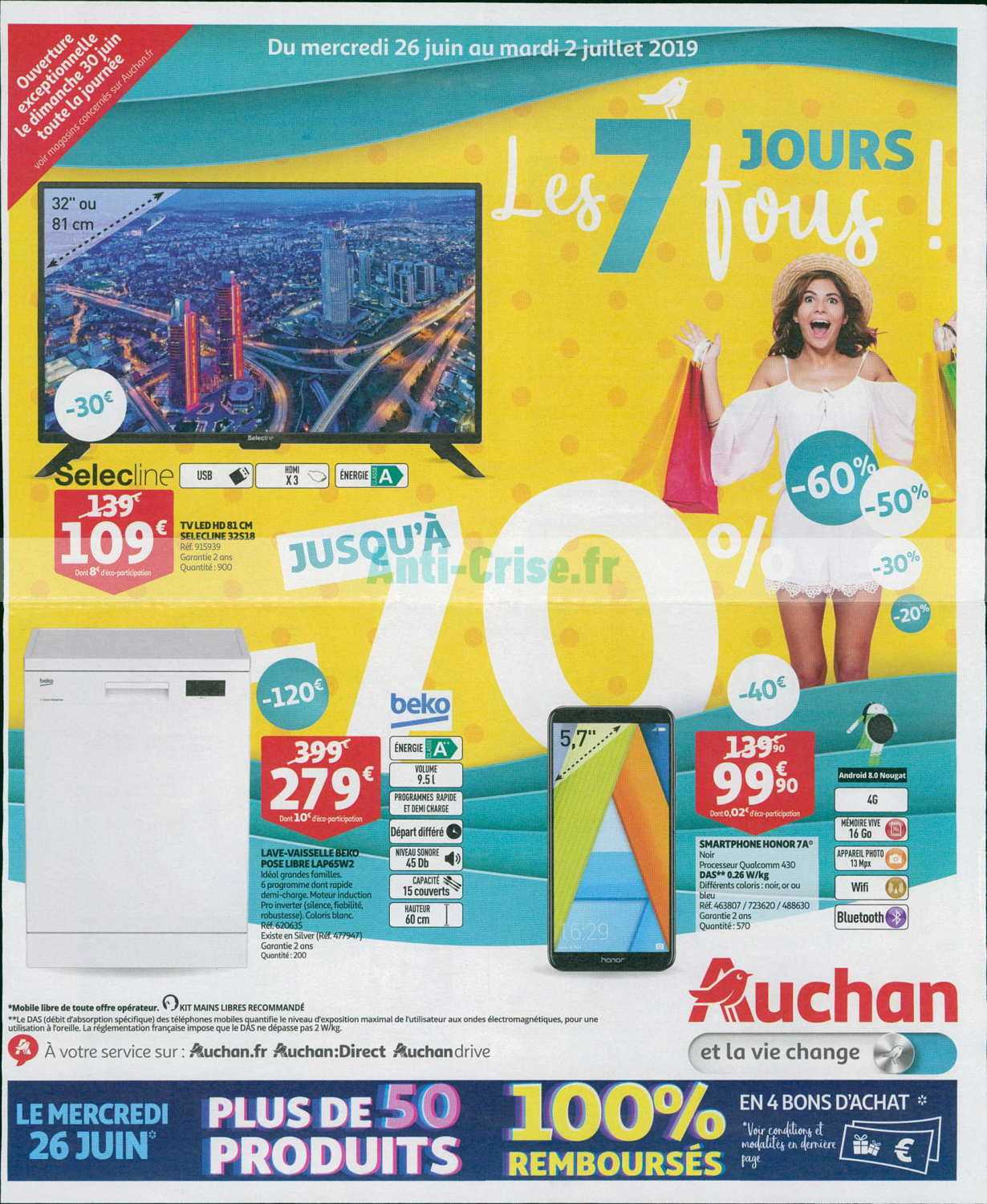 Catalogue Auchan 26 Juin 2019 : catalogue, auchan, AUCHAN, Nouveau, Catalogue, Juillet, Disponible!, Ratez, Promos, Catalogue.