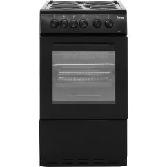 Beko Electric Cooker Wiring Diagram Db Electrical Starter As530k Bk A Energy Rating Ao Com 50cm With Solid Plate Hob Black Rated