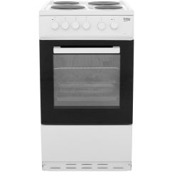 Beko Electric Cooker Wiring Diagram Goldline Aqua Rite Ks530w Wh White Ao Com 50cm With Solid Plate Hob A Rated