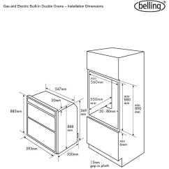 Belling Electric Cooker Wiring Diagram Two Pole Light Switch Bi90fp Built In 60cm Double Oven