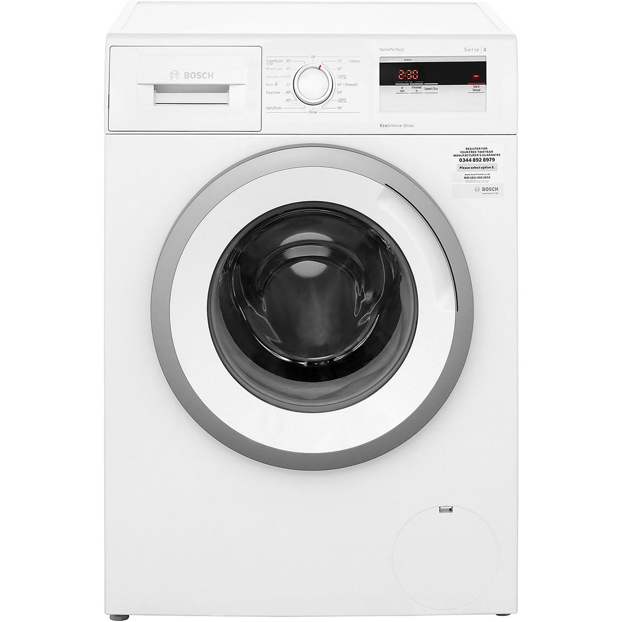 hight resolution of  bosch serie 4 wan28050gb 7kg washing machine with 1400 rpm white a rated