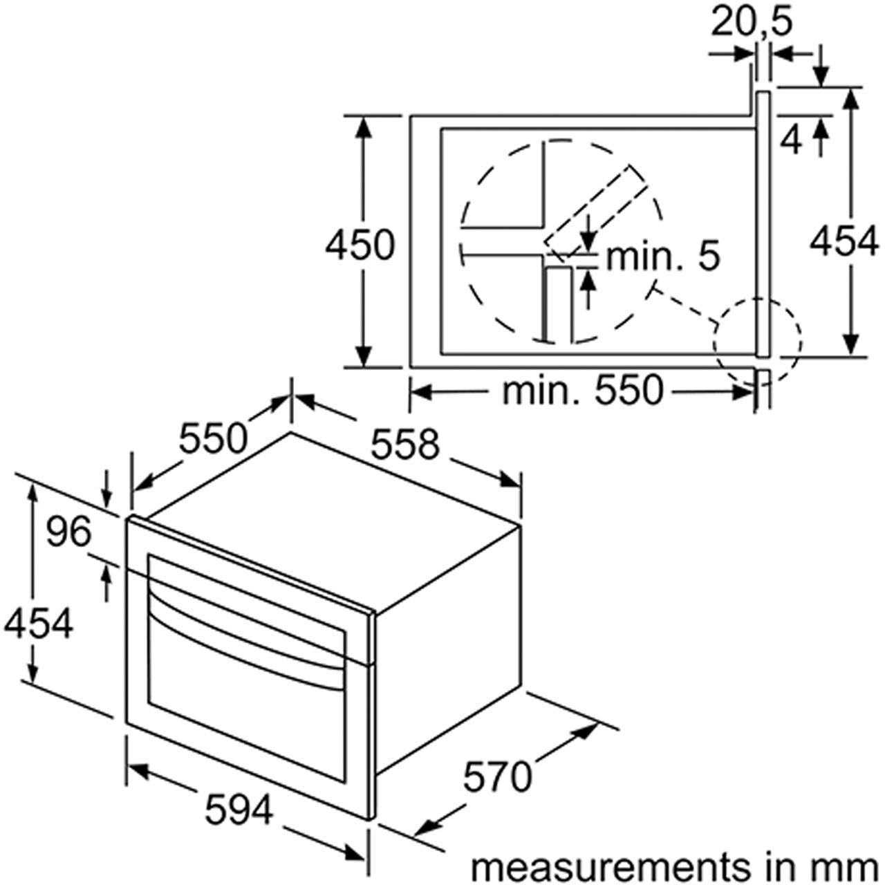 NEFF C1AMG83N0B N50 900 Watt Microwave Stainless Steel New