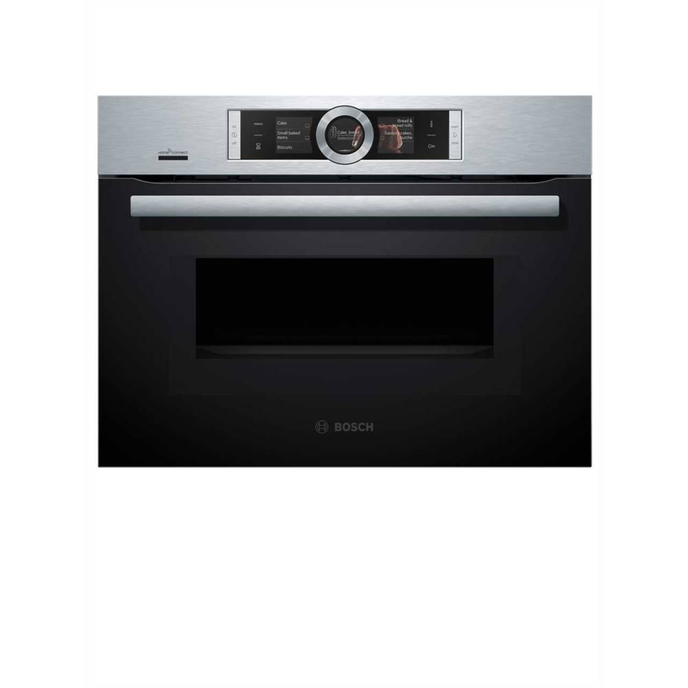 medium resolution of  bosch serie 8 cmg676bs6b wifi connected built in compact electric single oven with microwave function