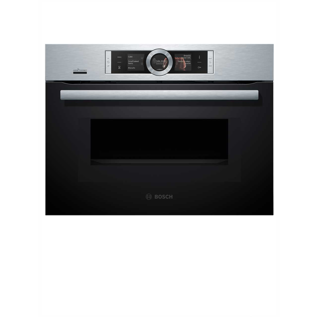 hight resolution of  bosch serie 8 cmg676bs6b wifi connected built in compact electric single oven with microwave function