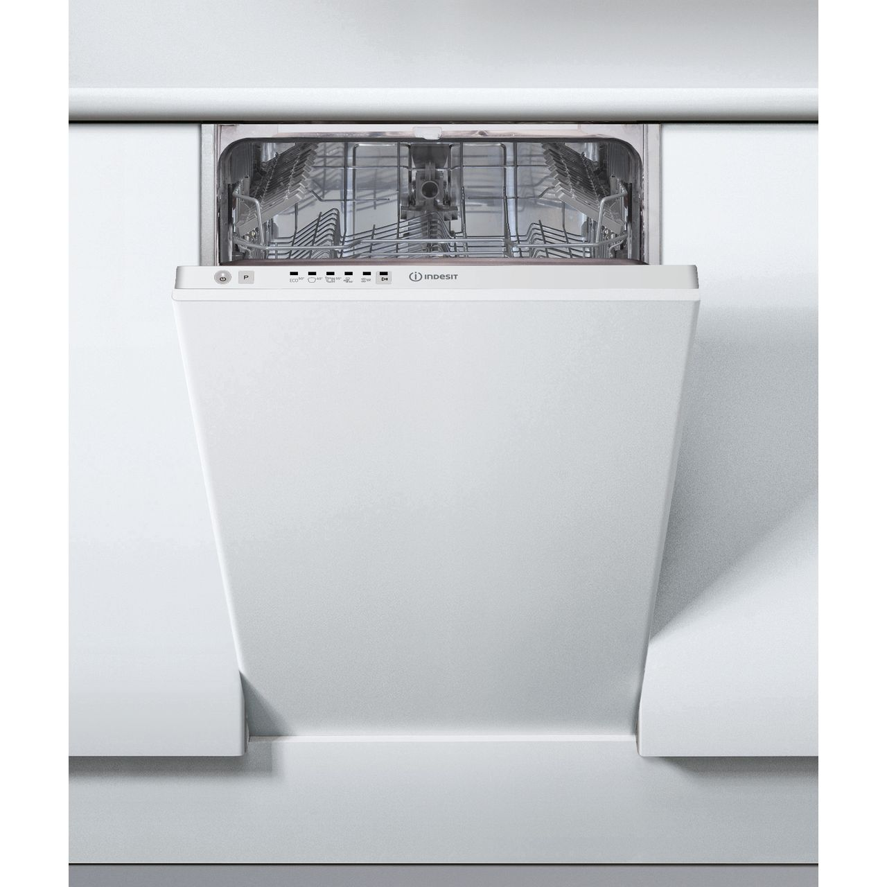 hight resolution of  indesit dsie2b19uk fully integrated slimline dishwasher white control panel with fixed door fixing kit