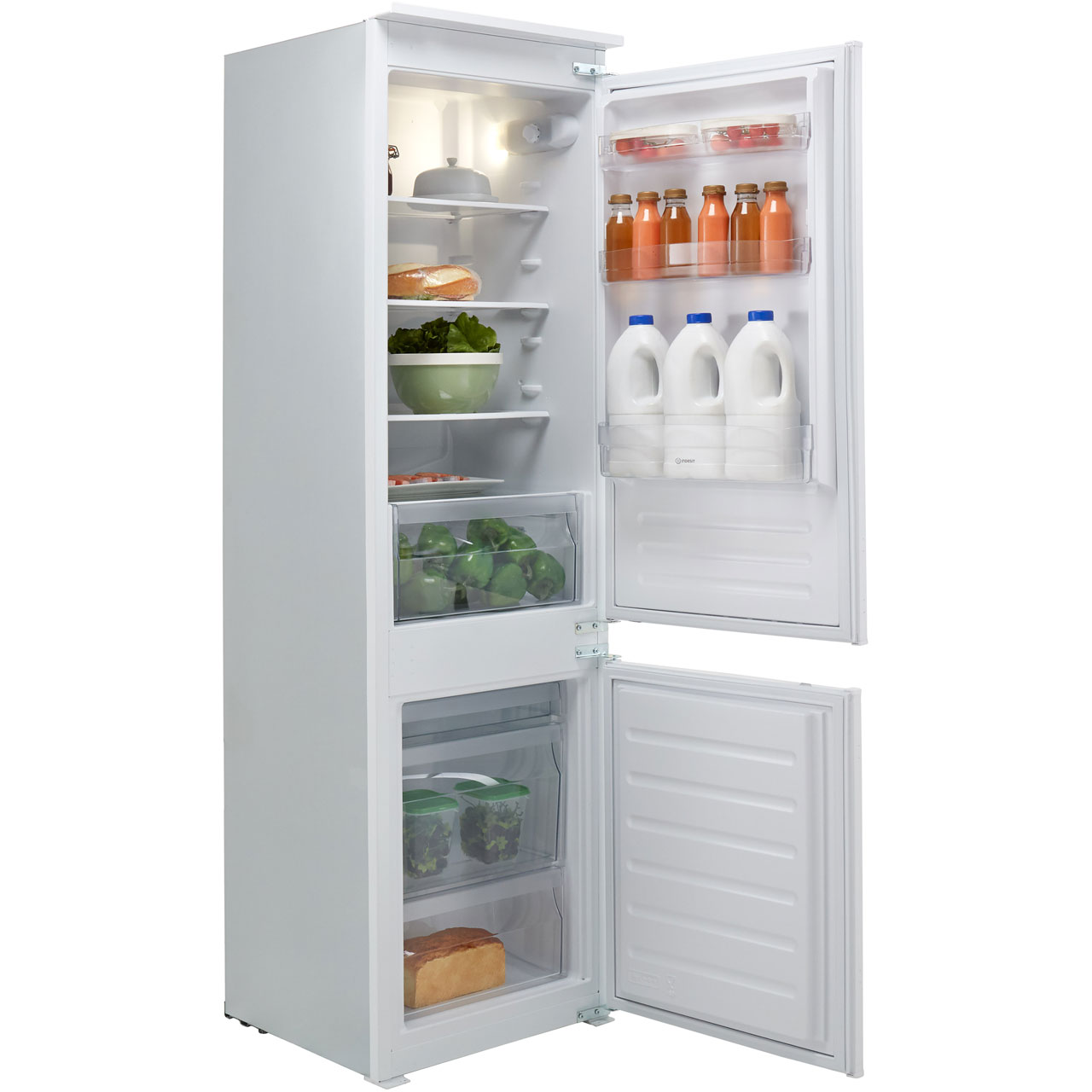 hight resolution of details about indesit ib7030a1d 1 a 54cm fridge freezer 70 30 standard built in white