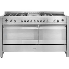 Kitchen Appliances Pay Monthly Lighting Above Table Smeg Opera A5 8 150cm Dual Fuel Range Cooker Stainless