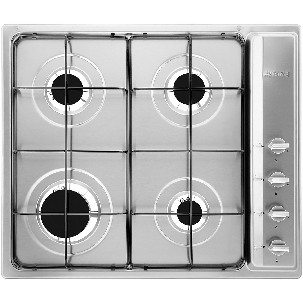 Smeg Cucina S64S Built In Gas Hob  Stainless Steel