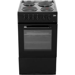 Beko Electric Cooker Wiring Diagram Tibia Bone As530k Bk A Energy Rating Ao Com 50cm With Solid Plate Hob Black Rated