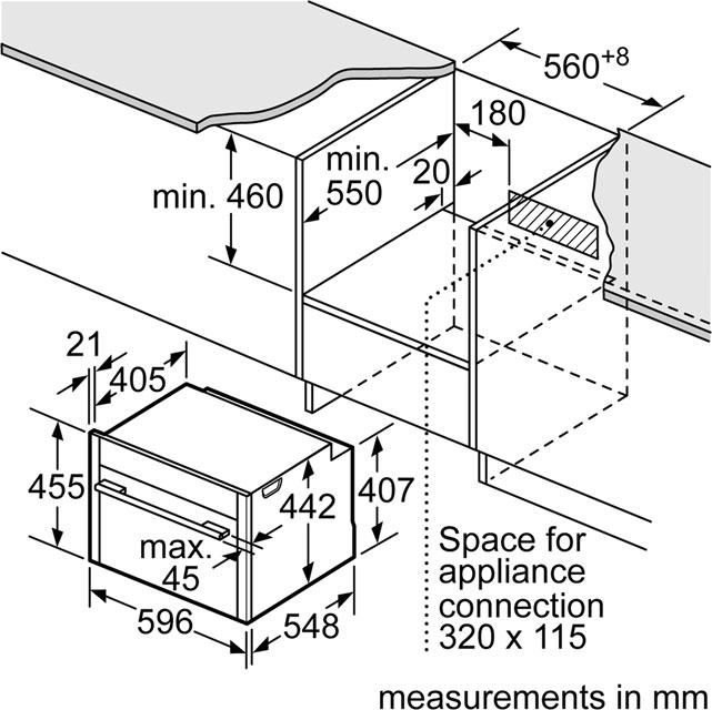 NEFF C17MS32N0B Premium Collection 3 1000 Watt Microwave