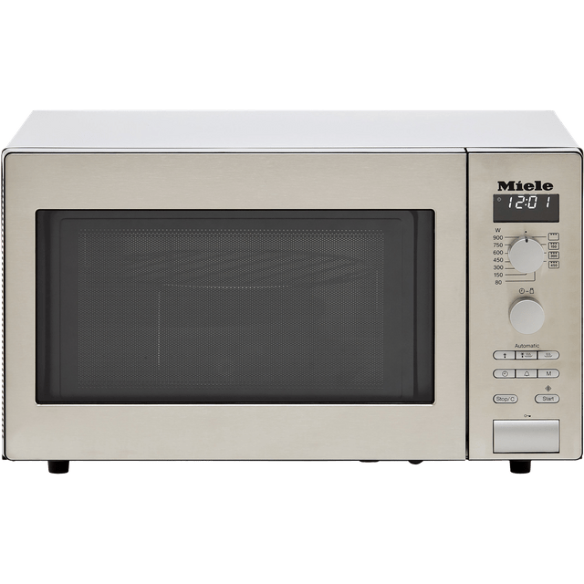 miele m6012 26 litre microwave with grill clean steel