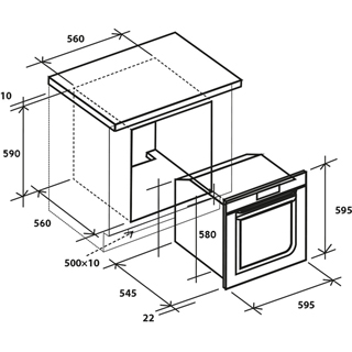 Baumatic BOFMU604X Built In Electric Single Oven