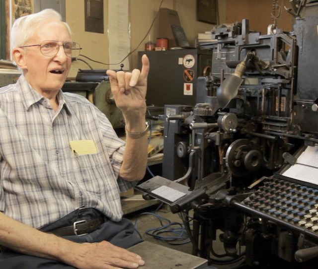 Deaf Operator Eldon Meeks Sharing About His Life With The Linotype Linotype The Film