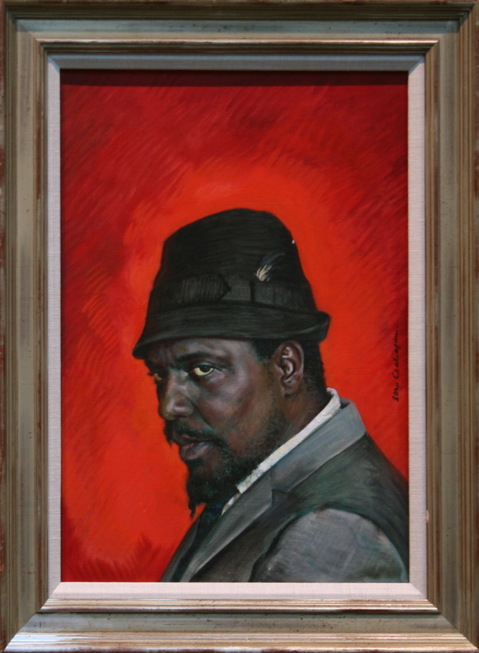 Portrait of Thelonious Monk by Boris Chaliapin oil on