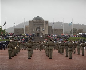 Remembrance Day service at the Australian War Memorial