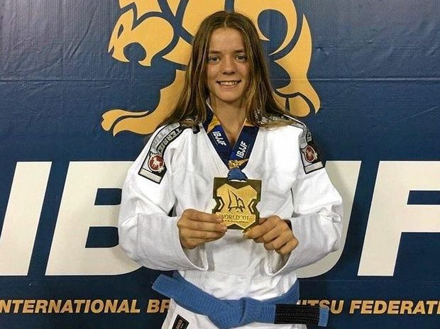 CHAMPION: Millie McCourt has won the 16yrs Feather Weight division at the Brazillian Jiujitsu WorldChampionships