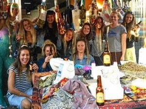 "The Byron Mermaids are sewing reusable ""boomerang"" bags for people to borrow and bring back."