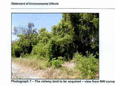 The rail corridor land to be sold.
