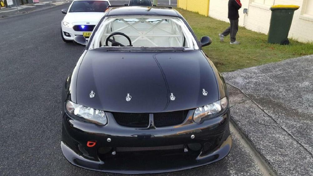 medium resolution of nsw police highway patrol bust a holden commodore without a seat windscreen or speedometer on
