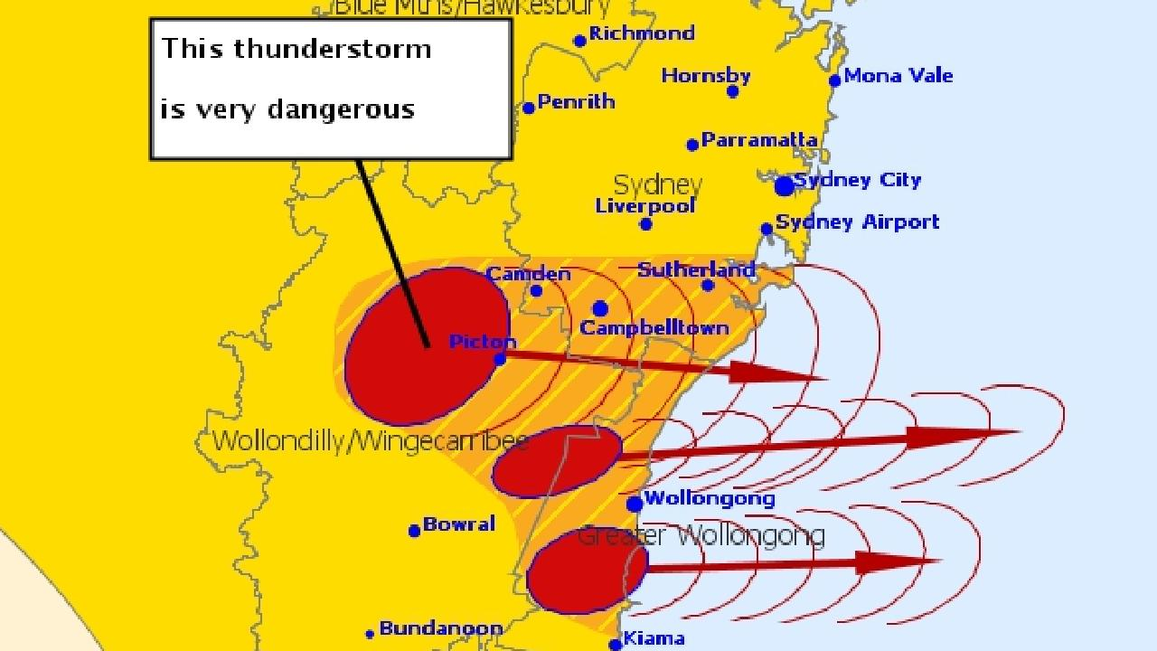 hight resolution of giant nsw storm declared a catastrophe