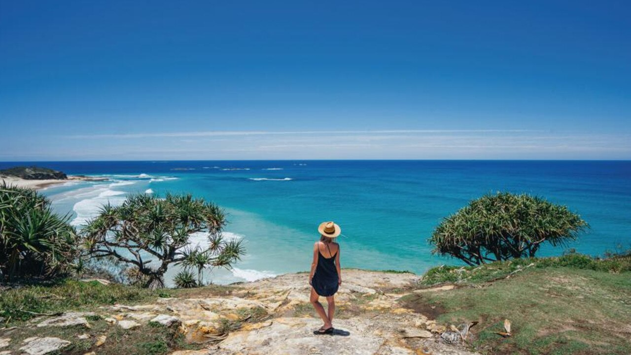 Frenchman's Lookout above Frenchman's beach on North Stradbroke Island. Picture Supplied