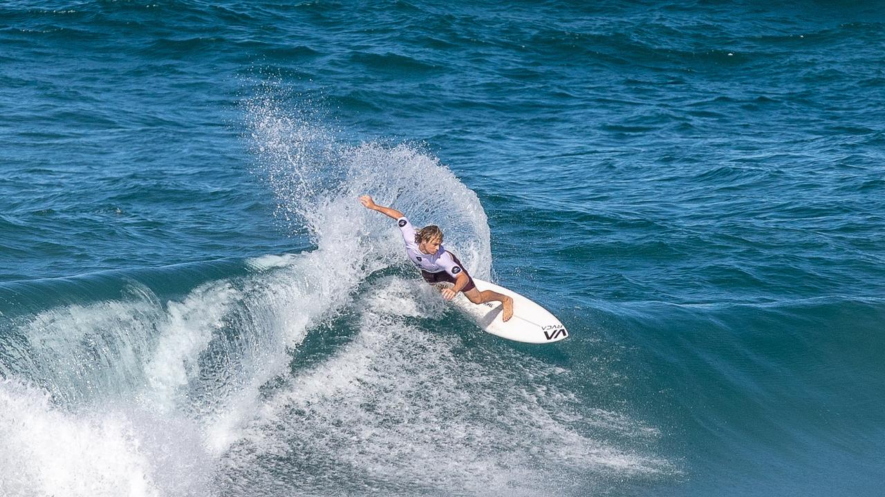 Noosa's Cooper Davies was in fine touch at Coolum Beach in the Sunshine Coast Pro.