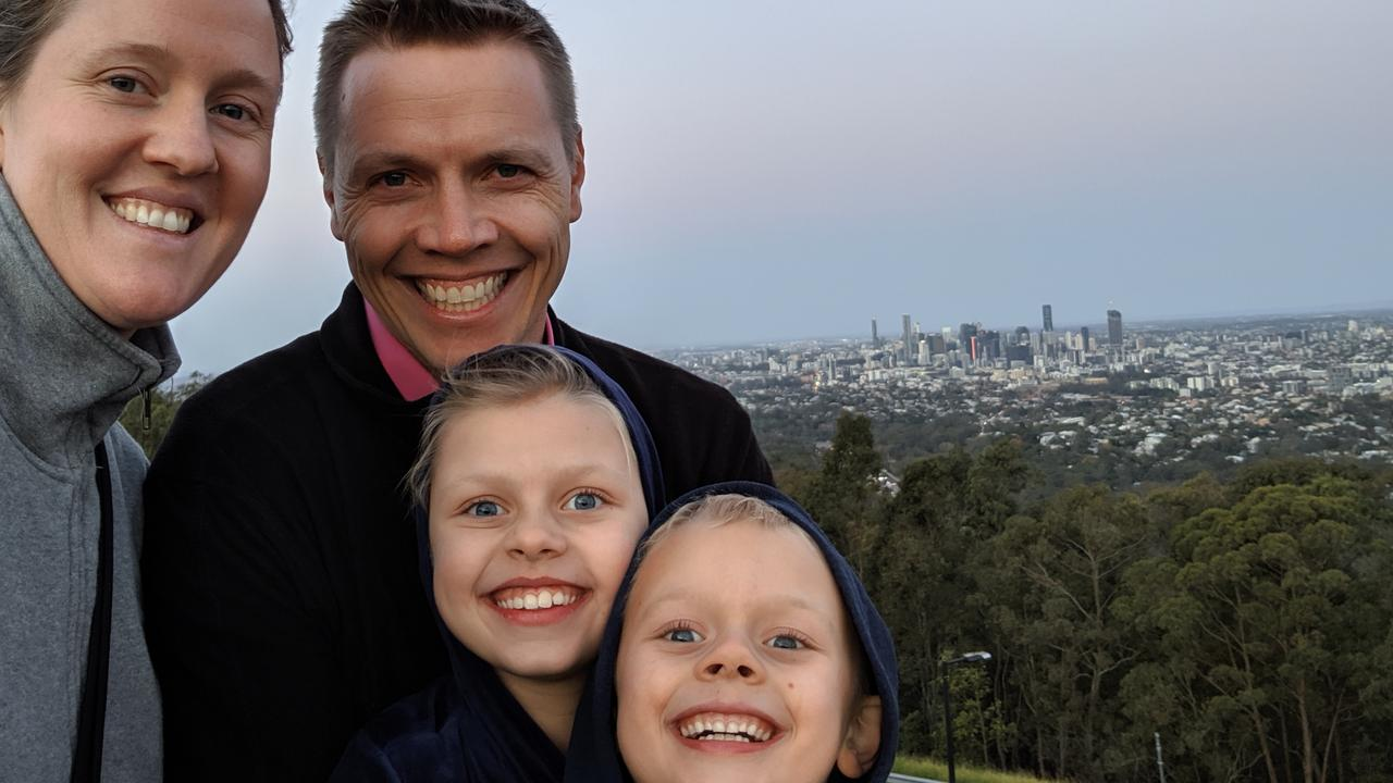 Ben and Karen Hughes have made many sacrifices in 2020 to help with the development of a COVID-19 vaccine. Their kids Norah, 10, and Elliot, 7, have played their part.