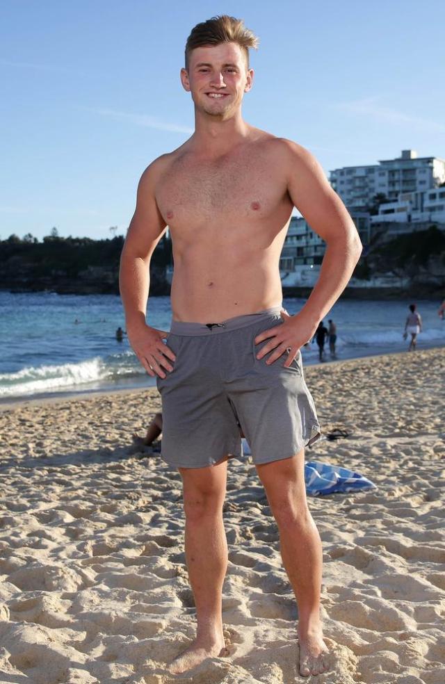 Adam McDermott at Bondi Beach. Picture: Christian Gilles