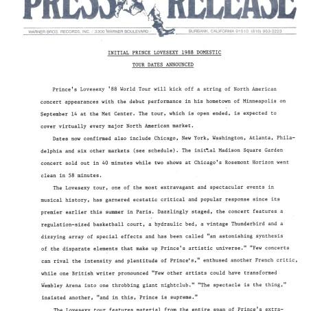 Prince - Lovesexy American Tour Warner promo (lansuresmusicparaphernalia.blogspot)