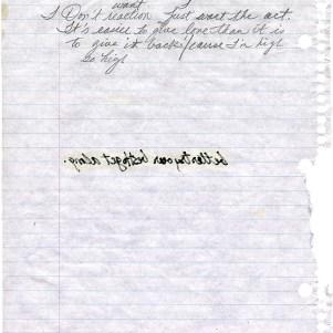 Prince - Purple Music - Handwritten lyrics page 2 (twitter.com/prince)