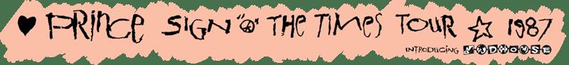 Sign O The Times Tour (princevault.com)