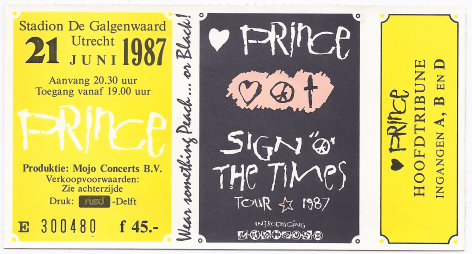 Prince 06/21/1987 concert ticket (apoplife.nl)