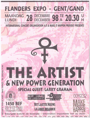 Artist 12/28/1998 concert ticket (apoplife.nl)