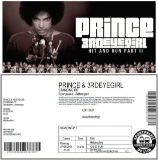 Prince 05/27/2014 concert ticket (apoplife.nl)