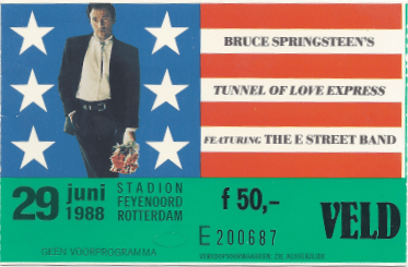 Bruce Springsteen 29-06-1988 concertkaartje (apoplife.nl)