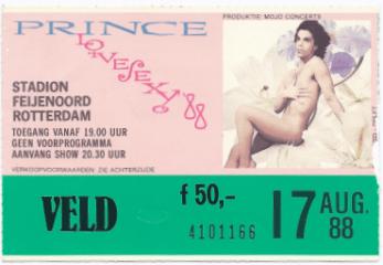 Prince 17-08-1988 concertkaartje (apoplife.nl)