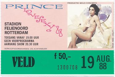 Prince 19-08-1988 concertkaartje (apoplife.nl)