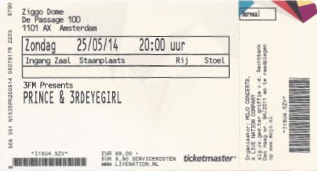 Prince 25-05-2014 concertkaartje (apoplife.nl)