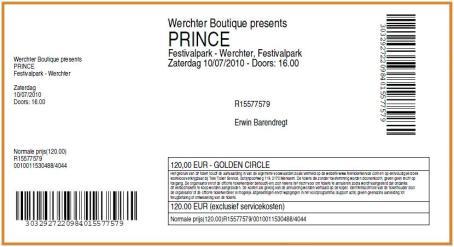Prince 10-07-2010 concertkaartje (apoplife.nl)