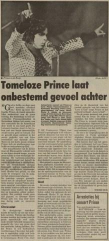 Prince - Lovesexy Tour - Nieuwsblad Van Het Noorden 18-08-1988 (apoplife.nl)