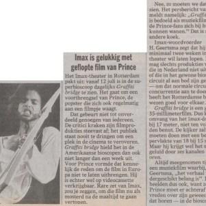 Prince - Graffiti Bridge film - de Volkskrant 28-06-1991 (apoplife.nl)