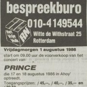 Prince - Parade Tour aankondiging - Vrije Volk 31-07-1986 (apoplife.nl)