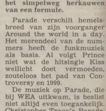 Prince - Parade recensie - Algemeen Dagblad 29-03-1986 (apoplife.nl)