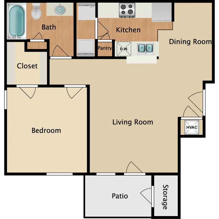 creekside apartments availability floor