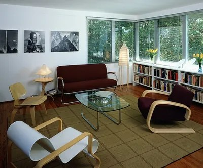 living room realtors old fashioned furniture charles and ray eames neutra apartment architectural digest webb s sitting houses an molded plywood chair two alvar aalto armchairs a tubular