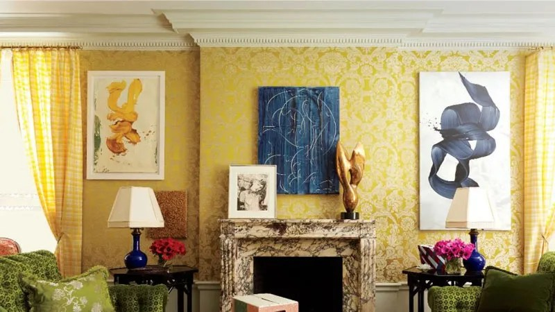 yellow paint ideas for living room modern 2016 radiant rooms architectural digest