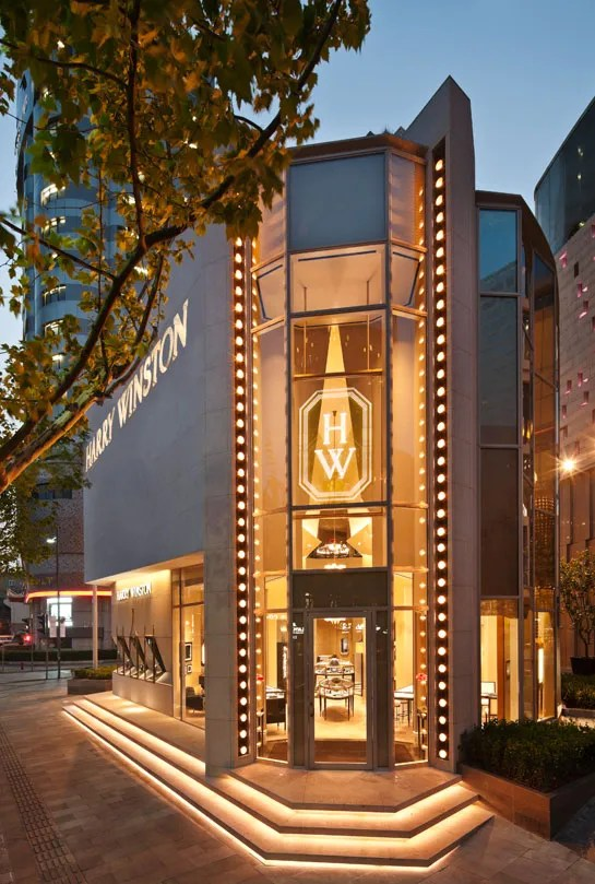 Harry Winstons Shanghai Boutique  Architectural Digest