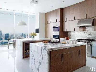 photos of kitchens rachael ray kitchen 35 sleek inspiring contemporary design ideas cerusedoak cabinetry lines a rockwell groupdesigned manhattan penthouses the wall ovens range and hood