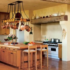 Kitchen Pot Racks Area Rugs For The Ultimate In Chic Organization Architectural Mica Ertegun Decorated Sonoma Valley California Home Of Joan And Sandy Weill Rack Was Designed By Suzanne Tucker S Previous