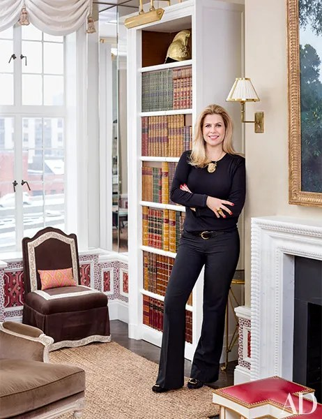 hickory chair louis xvi modern arm chairs alexa hampton blends classical with contemporary in her family's new york home photos ...